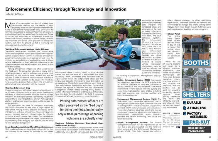 Parking Today article on IPS enforcement solution.